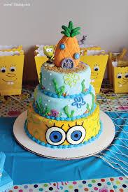 spongebob birthday cakes spongebob squarepants birthday party inspiration made simple