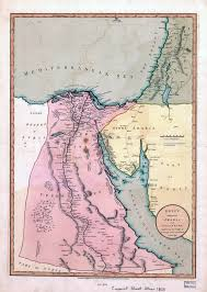 Map Of Palestine Large Scale Old Map Of Egypt With Part Of Arabia And Palestine