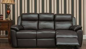 Recliner 3 Seater Sofa Reclining 3 Seater Leather Sofa Settee Espresso Brown