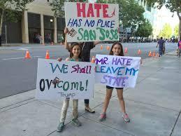 San Jose Flag Anti Donald Trump Protesters Tear American Flag At San Jose Rally