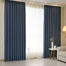 Single Blackout Curtain Aliexpress Com Buy Hotel Curtains Blackout Living Room Solid