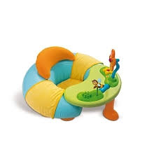 siege gonflable cocoon smoby cosy seat cotoons bleu et vert smoby toys r us
