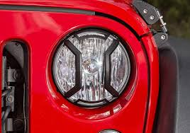 rugged ridge jeep wrangler elite aluminum headlight guards