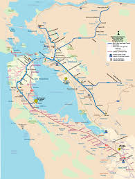 America Map San Francisco by Metro Map Of San Francisco Johomaps