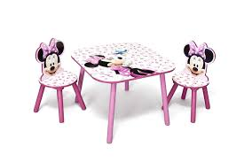 minnie mouse table set disney minnie mouse table and chair amazon co uk kitchen home