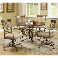 chair caster dining room chairs table with wheeled casters dining