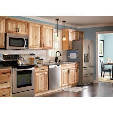 assembled 36x34 5x24 in base kitchen cabinet in hton bay 36x34 5x24 in sink base cabinet in natural hickory