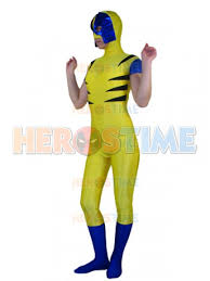 x men wolverine spandex superhero costume