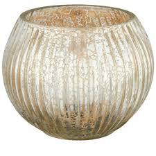 Mercury Glass Home Decor Buy Champagne Gold Mercury Glass Bowl Tea Light Holder Candle