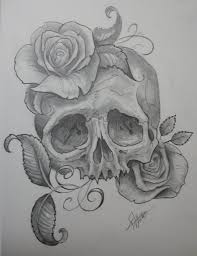 skull with roses by jwheelwrighttattoos this would be a hip