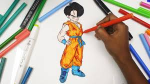 coloring the baby trunks from the dragon ball z dbz coloring
