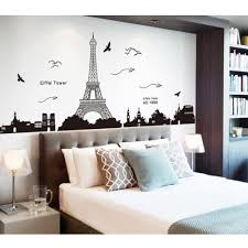 search on aliexpress com by image paris eiffel tower night view beautiful romantic simple black diy wall stickers wallpaper art decor mural living room decal