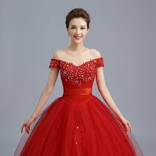 popular red korean wedding dresses 2017 plus size wedding dresses