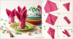 easter napkins easter bunny napkin folding tutorial