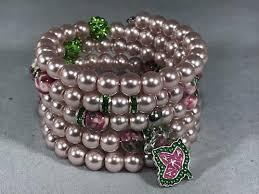 leaf wrap bracelet images Swarovski pearl memory wire wrap bracelet ivy leaf charm jpg