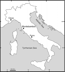 The Map Of Italy by Map Of Italy With The Position Of The Localities Ceva Figure