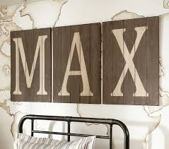 wood planked letters pottery barn kids