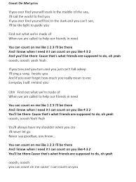 Lyrics To Count On Me Bruno Mars 10 Best Songs I Images On Abba Lyrics Lyrics And