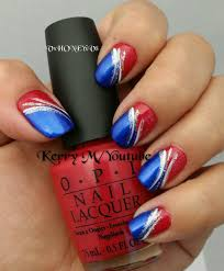 4th of july nails red white and blue youtube