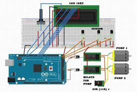 solar water controller with arduino mega and ds18b20 temp