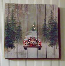 prim tree gifts home decor handmade christmas sign wooden christmas sign vintage red truck