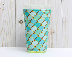 of gold crochet cup cozy pattern for a starbucks grande cup iced coffee etsy