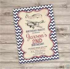 vintage airplane birthday invitations 28 images airplane