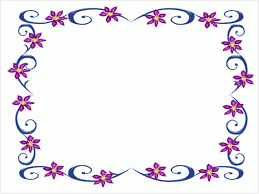 Clip Art Flowers Border - simple flower border designs for a4 paper free download clip art