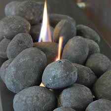 nu flame black ceramic fiber fireplace stones 25 piece nf a25bs