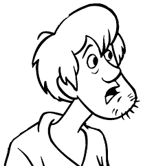 shaggy rogers confused scooby doo coloring pages