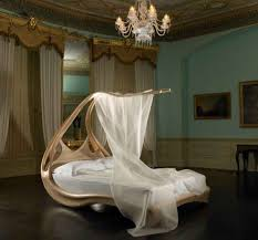 modern romantic bedroom design with futuristic interior