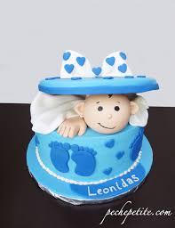baby birthday cake peche