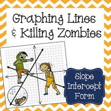 graphing lines u0026 zombies slope intercept form