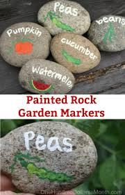 diy garden markers using painted rocks one hundred dollars a month
