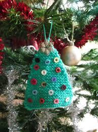 quick knit christmas tree decorations make bake create