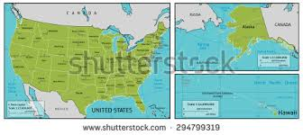 map of america showing states and cities map america state names capitals other stock vector 294799319