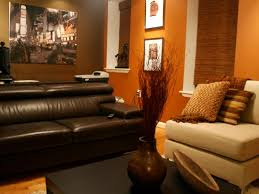 brown and orange living room home planning ideas 2017