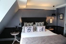 chambre blanche et deco chambre lit noir dco chambre couleur blanc noir pour