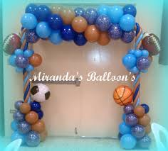 sports theme balloon decor globos pinterest babies