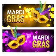 mardi gras banner mardi gras brochure banner design golden tuesday symbols