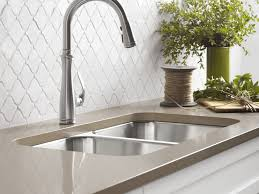 Spring Kitchen Faucet by Sink U0026 Faucet Awesome Brushed Nickel Faucet Kitchen Rachel Pull