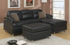 Apartment Sized Sofas by Furniture Black Leather Clark Apartment Size Sofa On Laminate