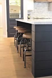 black kitchen islands appealing black painted shiplap on kitchen island by rafterhouse