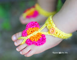 barefoot sandals and foot adornments to crochet u2013 free patterns