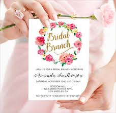 bridal brunch invitation 40 bridal shower invitation exles