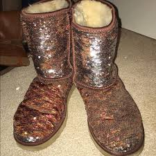 womens ugg juliette boot 27 ugg shoes size 9 uggs color changing sequin from