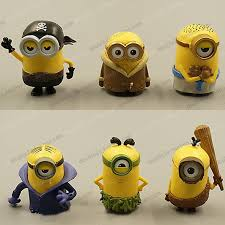 minions cake toppers minion cake topper 6pcs 5cm minion 3d minion birthday supplies