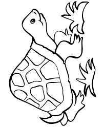 easy shapes coloring pages free printable happy turtle easy