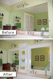 easy bathroom makeover ideas diy bathroom mirror frame for 10 blue wood stain mirror