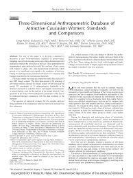 three dimensional anthropometric database of attractive caucasian